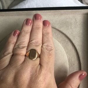 Jewelry - Antique rose gold signet ring